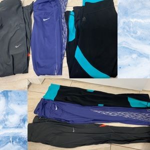 Nike and Adidas Athletic Leggings Bundle